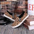spring autumn Leopard print canvas shoes platform cheap china casual women Vulcanize Shoes