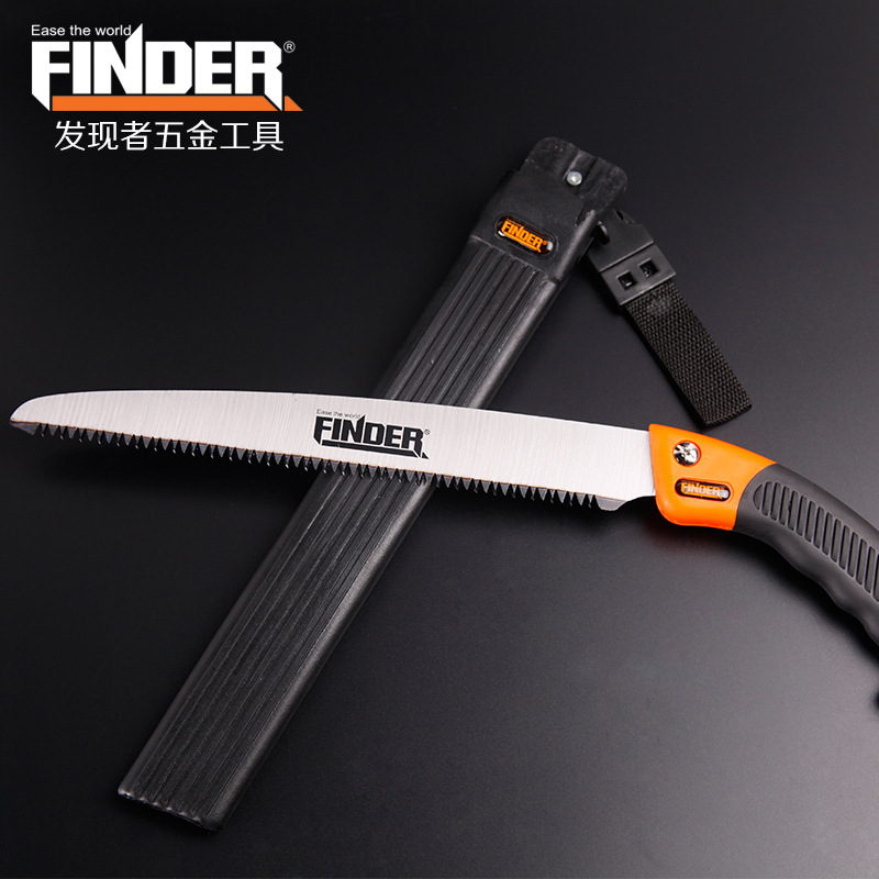 FINDER Portable Trimming Bow Saw with Sheath Tree Pruning Garden Yard Tool Large Size Handsaw authentic original tajima saw pul265 kch 3 times fast panel saw 265mm woodworking handsaw handsaw