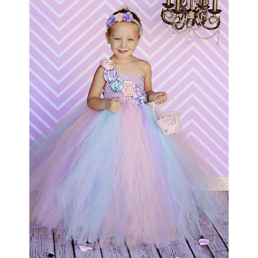 e2ea2f9db Flower Girls TUTU Dresses for Pink White Red Blue Kids Children Ball Gown  Pageant Party Flower girl dress 3 10y-in Dresses from Mother & Kids on ...