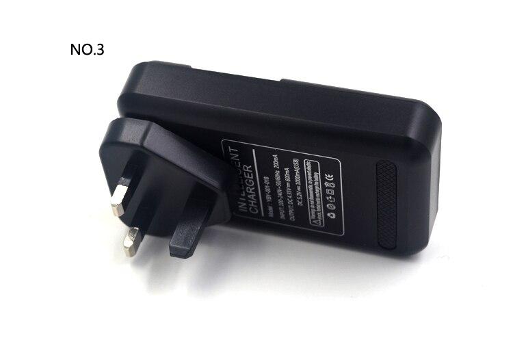 אוניברסלי תצוגת LCD טלפון סלולרי נייד סוללה קיר מטען נסיעות עם יציאת USB ארה