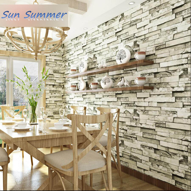 New Chinese Style Bricks Wallpaper Clothes Stair Wallpaper Bedroom Wallpaper