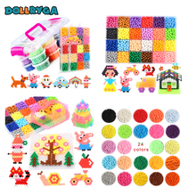DOLLRYGA 36 Colors Beads Jewel Bead Refill Pack Set Water Sticky For Children Making Kids 400Pcs/Bag