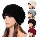 Hot Winter Casual Beanies Hats For Women Knitted Solid Hip-hop Slouch Skullies Bonnet Cap Hat Gorro Baggy Warm Beanies Femme