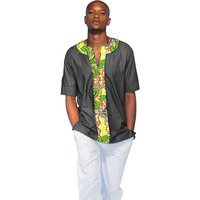 Africa Style Short Sleeve Tops Printed Mens Dashiki Clothes O Neck African Shirt Tailored Made Africa
