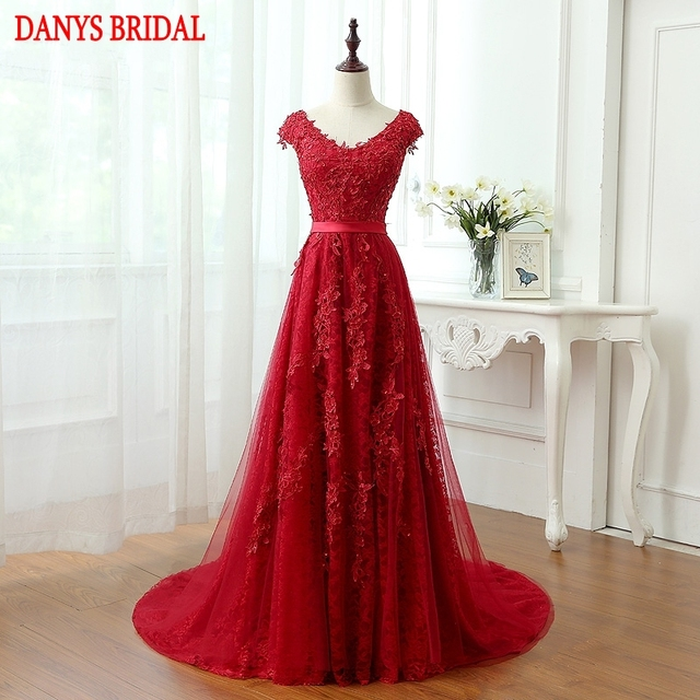 Long Lace Evening Dresses Party Beaded A Line Women Beautiful Prom Formal  Evening Gown Dress for c2b5f73e648f