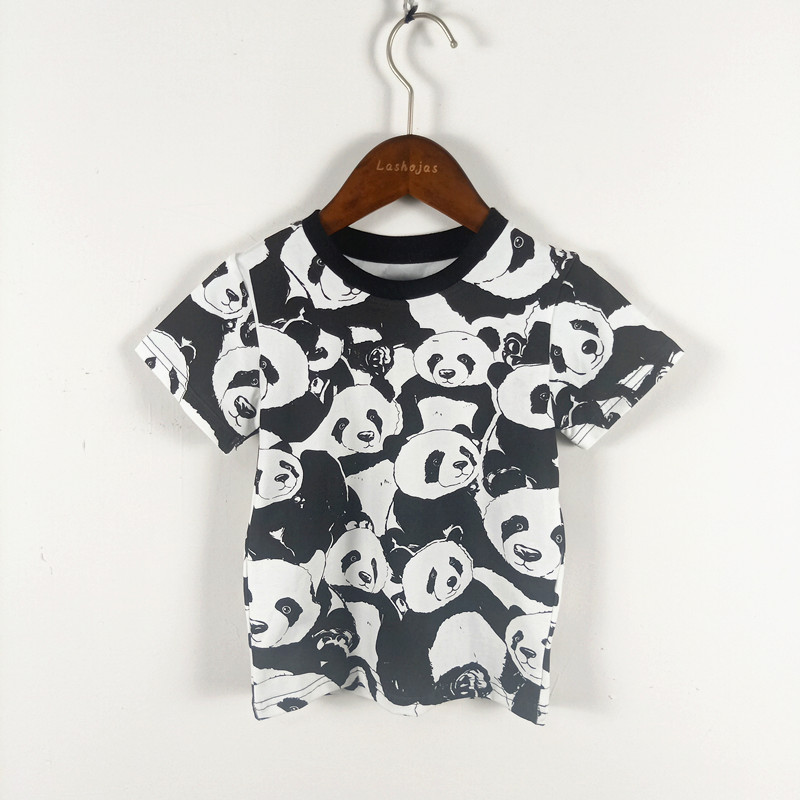 BOBOZONE 2019 Panda t-shirt for kids boys girls summer teeBOBOZONE 2019 Panda t-shirt for kids boys girls summer tee