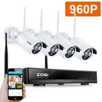 ZOSI 4CH CCTV System 720P HDMI NVR 4PCS 1 0 MP IR Outdoor P2P POE IP