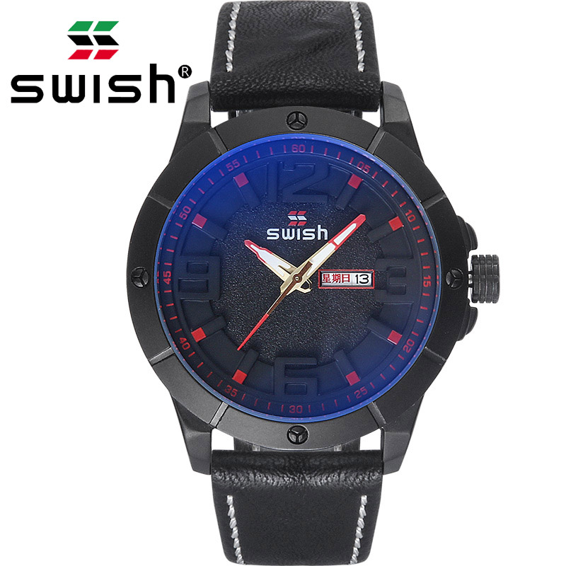 SWISH Men Watches Top Brand Luxury Watch Male Leather Waterproof Business Wristwatch Relogio MasculinoSWISH Men Watches Top Brand Luxury Watch Male Leather Waterproof Business Wristwatch Relogio Masculino