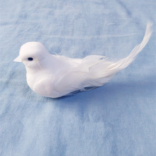 Mini White Artificial Foam Doves With Magnet For Outdoor Decal