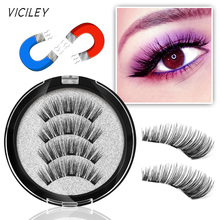 VICILEY Magnetic eyelashes with 3 magnets handmade 3D/6D magnet lashes natural false comfortable -24p-3