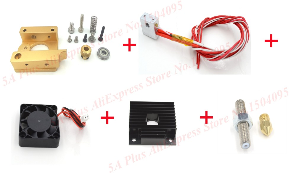 3D Printer Head MK8 Extruder Kits J-head Hotend Nozzle 0.4mm Feed Inlet Diameter 1.75 Filament without Stepper Motor