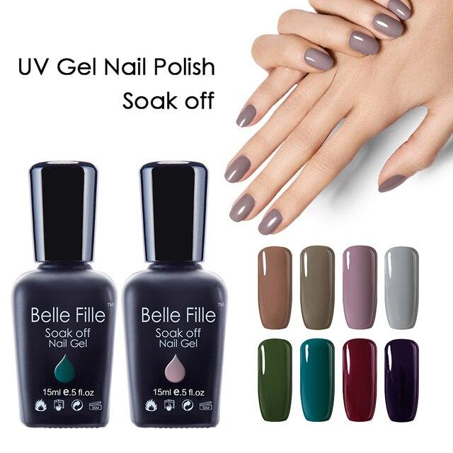 Belle Fille Nue Couleur UV Gel Laque Lilas Blanc Chameau Nail Gel ...