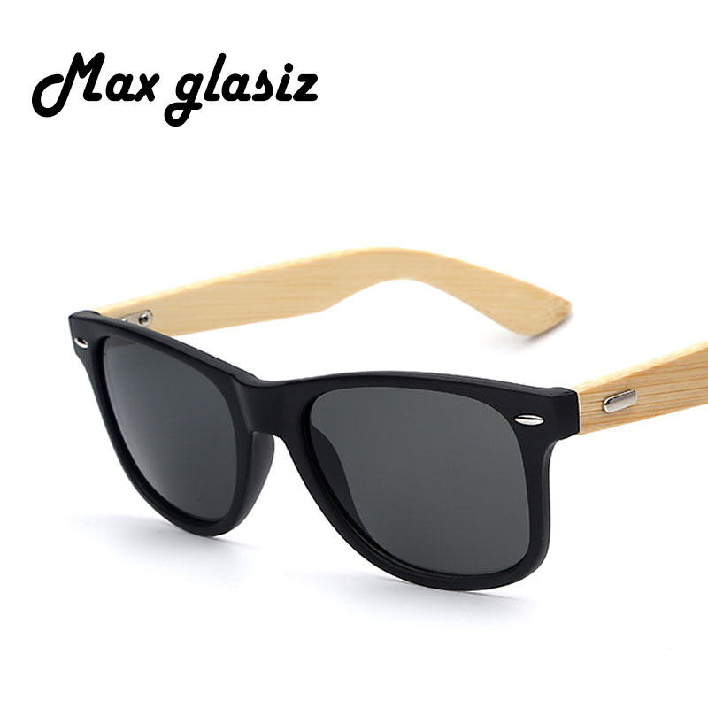 b28b65d94be0 Bamboo Sunglasses New 2017 Men Wooden Sunglasses Men Brand Designer Mirror  Original Women Sun Glasses Oculos