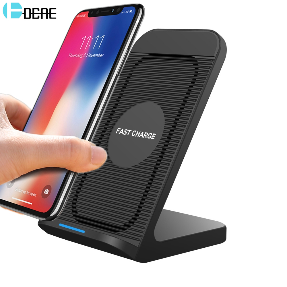 DCAE 10W Qi Wireless Charger For Samsung S9 S8 Plus Note 9 8 iPhone X 8 XS Max XR Mobile Phone