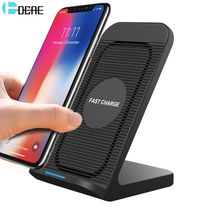 DCAE 10W Qi Wireless Charger For Samsung S9 S8 Plus Note 9 8 iPhone X 8 XS Max XR Mobile Phone USB Fast Wireless Charging Holder