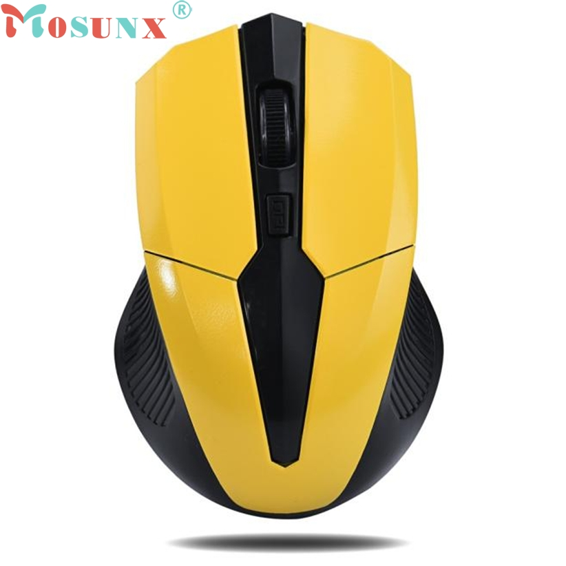 2.4G Wireless 6D 6Button 2000 DPI Optical Gaming Game Mouse LED PC Laptop-YELLOW
