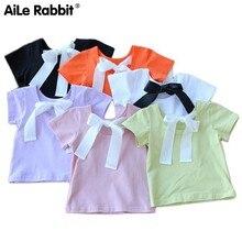 цены Baby Short Sleeve T The Dew Back Western Style Children Jacket Summer Wear Girl Pure Cotton Rendering Unlined Upper Garment