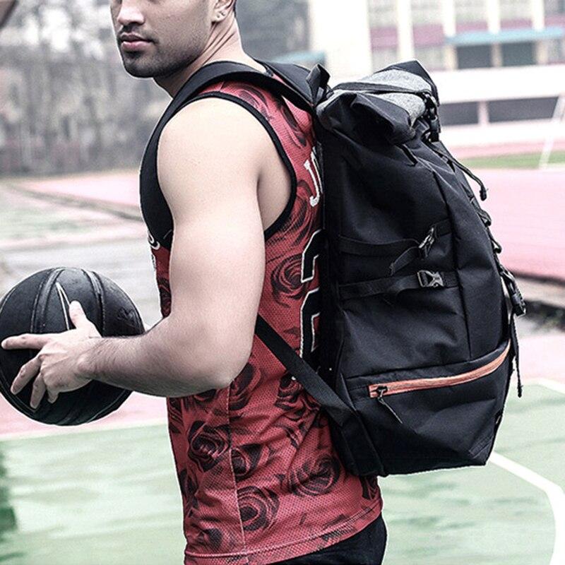 Sac à dos de Sport en plein air hommes grande capacité sac à dos de basket-ball Rugby randonnée Double sac à bandoulière ordinateur portable sac à dos formation Pack - 3