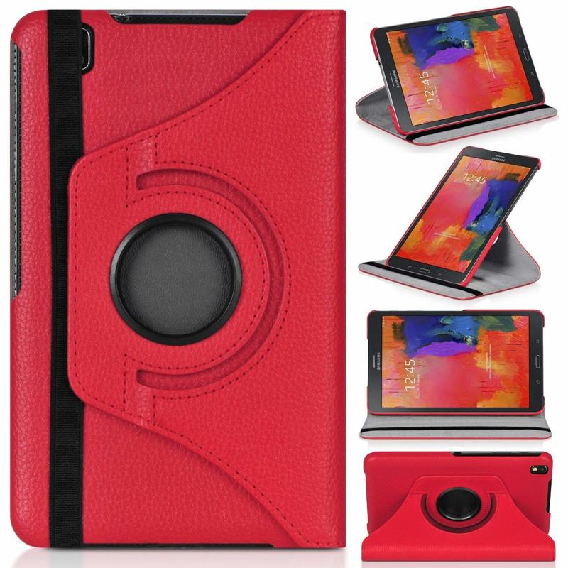 360 Degree Rotating PU Leather Flip Cover Case For Samsung