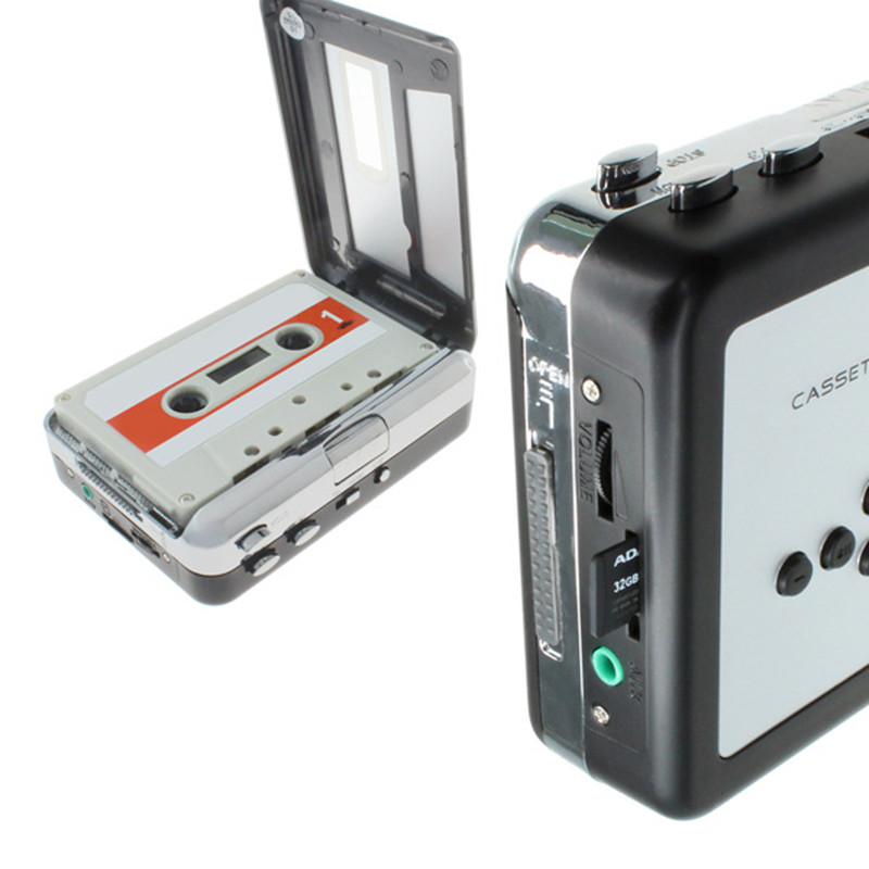 cassette player Cassette to MP3 Converter for TF SD card Capture Audio Music Player Convert music on tape to TF card CR232