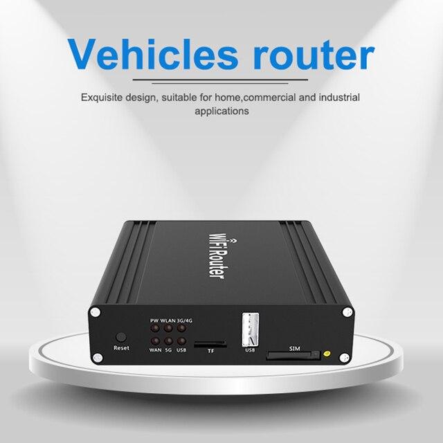 Fahrzeug lte router dual band openwrt bus 12V 3g/4g wireless wifi router sim karte slot für auto 1200Mbps externe 5dbi antennen