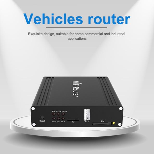 차량 lte 라우터 듀얼 밴드 openwrt 버스 12V 3g/4g 무선 와이파이 라우터 sim 카드 슬롯 1200Mbps 외부 5dbi 안테나