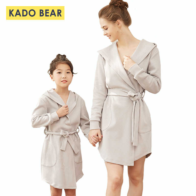 17756d13dcc655 Detail Feedback Questions about Family Pajamas Mother Daughter Bathrobe Matching  Outfits Mommy and Me Winter Clothes Sister Dress Robe Mom Robes Cotton ...