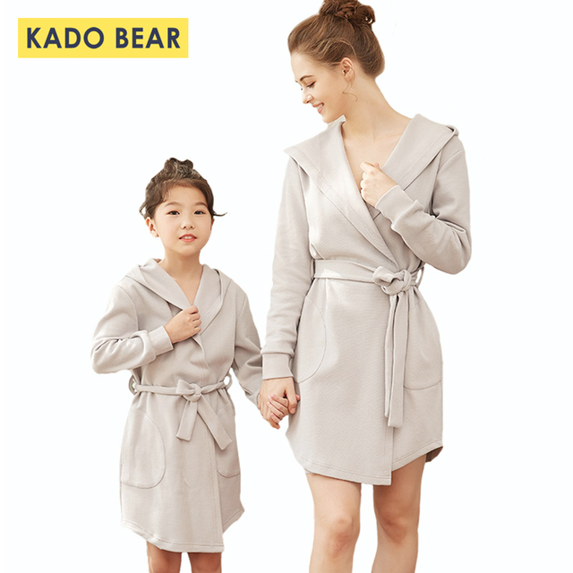 3cd64fa3f270 Family Pajamas Mother Daughter Bathrobe Matching Outfits Mommy and Me  Winter Clothes Sister Dress Robe Mom Robes Cotton Clothing