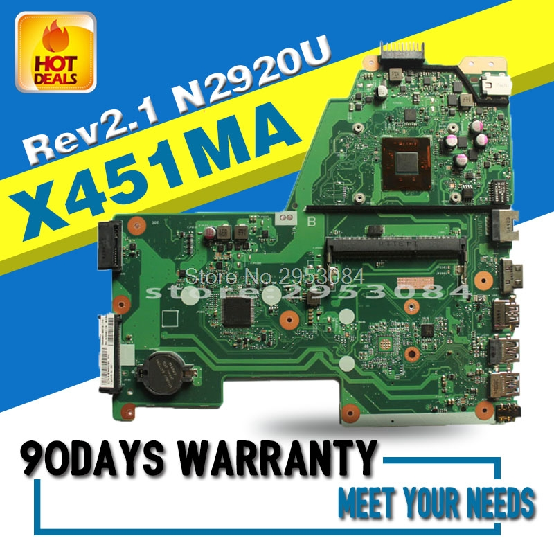 For asus X451MA REV2.1 N2920 Laptop Motherboard System Board Main Board Mainboard Card Logic Board Tested Well Motherboard used for toshiba 281c 351c 451c copier motherboard logic board interface board lgc board