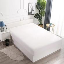 Comwarm водонепроницаемый простыня простой сплошной цвет Наматрасники из полиэстера спальня отель кровать Протектор Эластичный вкладыш постельное белье