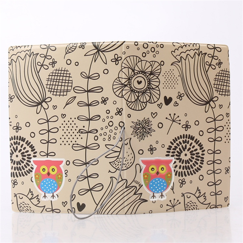 Color the owl passport cover2