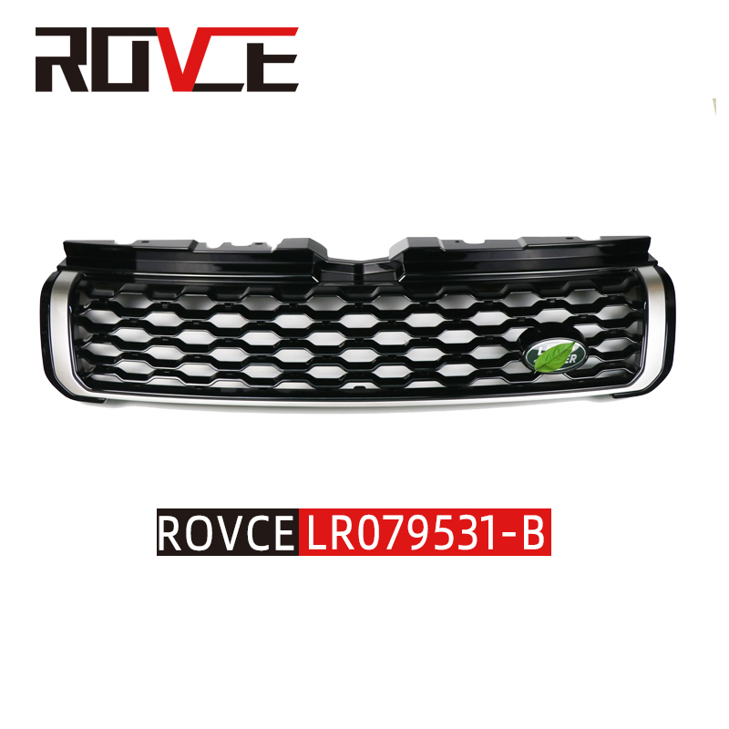For Land Rover Range Rover Evoque 2012-2015 Shiny Black ABS Front Bumper Grille