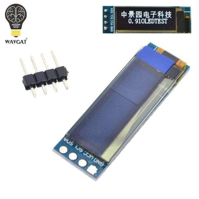 """WAVGAT 0.91 inch OLED module 0.91"""" Blue White OLED 128X32 OLED LCD LED Display Module 0.91"""" IIC Communicate 1"""