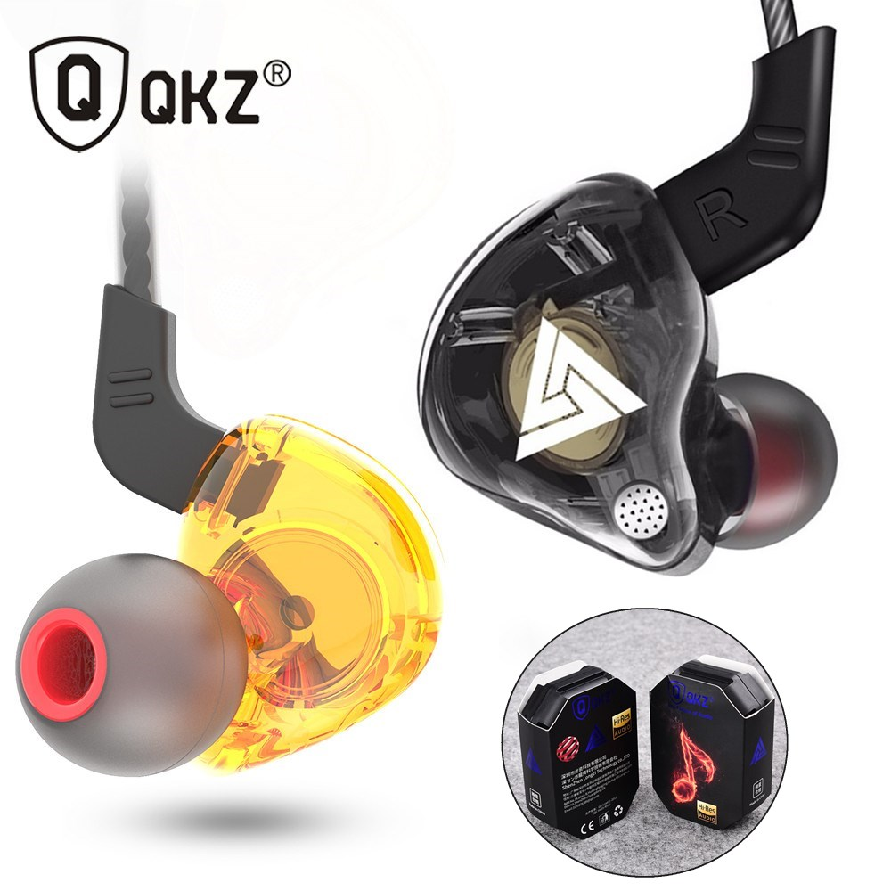 QKZ AK6 AK6 X ATR HD9 медный драйвер HiFi спортивные музыкальные наушники-вкладыши Наушники для смартфона с микрофоном