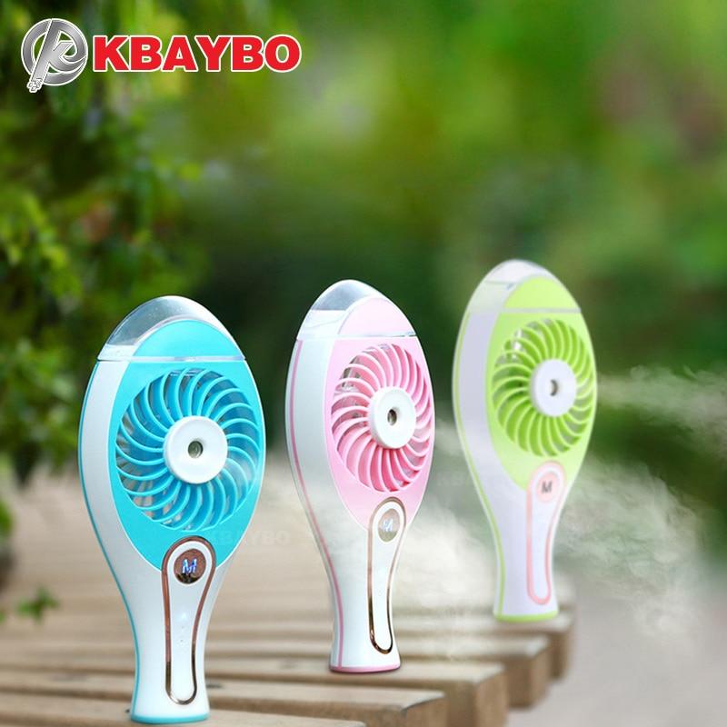 KBAYBO Portable USB Fan Cooler Mini Handy Small USB Cooling Fan Desk Pocket Water Mist Fan Cooling Air Humidifier
