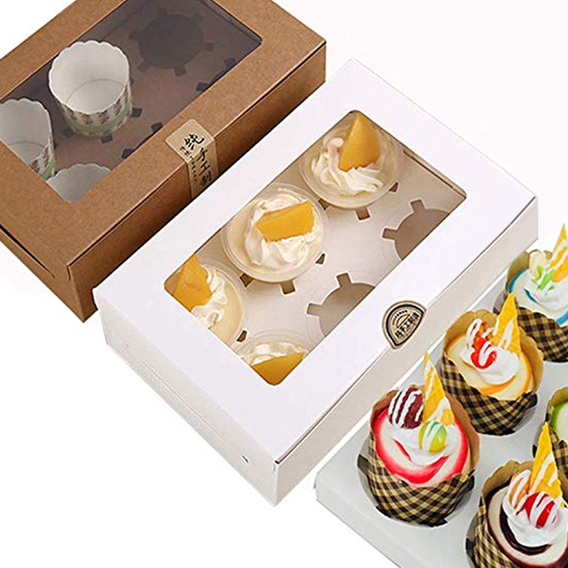 5pcs / Wedding Party Cupcake Boxes Pastry Cookie Box Kitchen Accessorie Containers Bakery Birthday Window Transparent Cake Box5pcs / Wedding Party Cupcake Boxes Pastry Cookie Box Kitchen Accessorie Containers Bakery Birthday Window Transparent Cake Box
