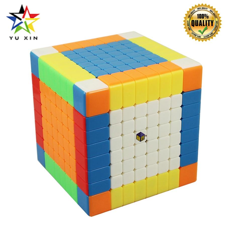 2019 YUXIN Vitesse Cube 8x8x8 Concurrence 88mm Magique Cube Magnétique Twist Puzzle Jouets Pour Enfants cadeau cubes de puzzle Cubo Magico