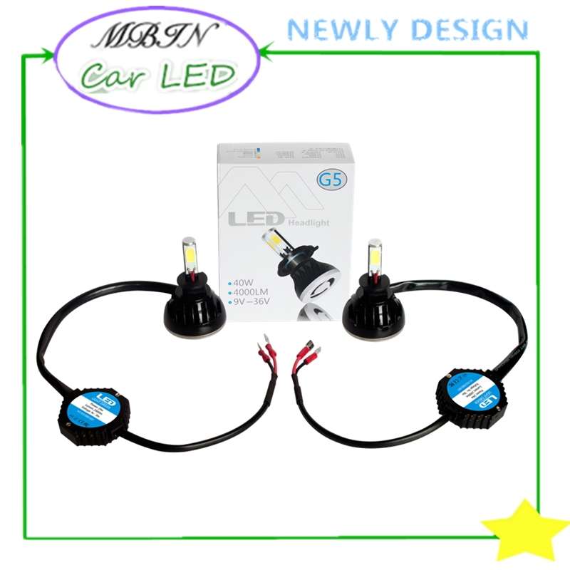 Universal kit <font><b>G5</b></font> 40W 4000LM <font><b>LED</b></font> Headlight H3 for Car Automobile Motorcycle <font><b>LED</b></font> Headlamp Fog <font><b>Light</b></font> Fog lamp with Fan Play & Plug image