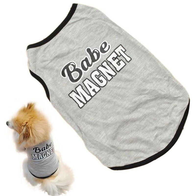 Animale Domestico Del Cucciolo Del Cane Della Maglia Del Gatto Cani Abbigliamento Felpa Di Cotone T Shirt Abbigliamento Vestiti Del Fumetto Del Cane Maglietta Animali Domestici Forniture Bianco Puro E Traslucido