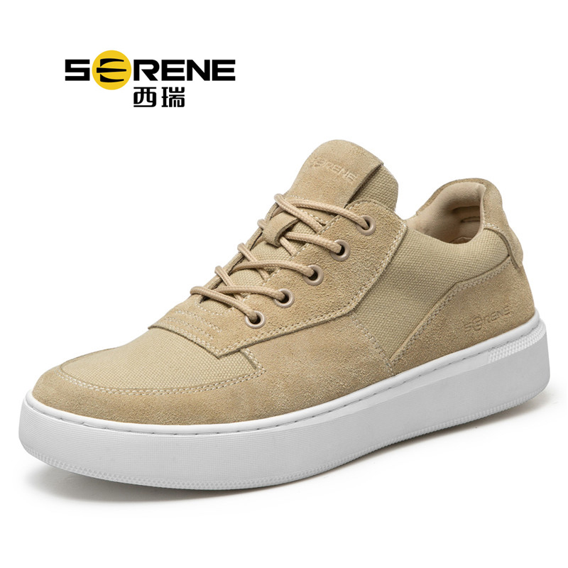 Suede Men Skating Sneakers Teenager Boys Lace-up Casual Shoes Breathable School Sports Shoes Spring Autumn Men Footwear 2018 New casual color block lace up breathable sports shoes for men