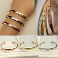 Fashion Brand Hot Sale Gold/ Silver/ Rose Gold Plated Carter Love Cuff Bracelet Women Channel Bangles Couple Jewelry Best Gift