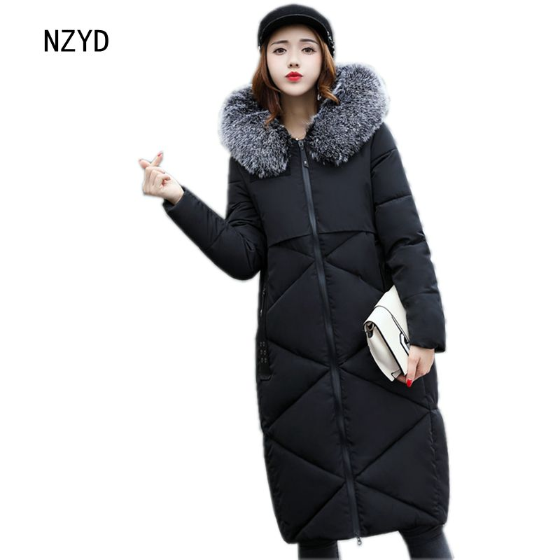 Jacket Down Women Winter New Fashion Hooded Fur collar Warm Medium long Female Coat Casual Long sleeve 4 colors Parkas LADIES282 2017 new winter fashion women down jacket hooded thick super warm medium long female coat long sleeve slim big yards parkas nz18