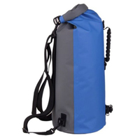 60L Large Waterproof Floating Dry Bag Backpack Drift Canoeing Kayak Camping PVC Nylon Polyester Blue Color