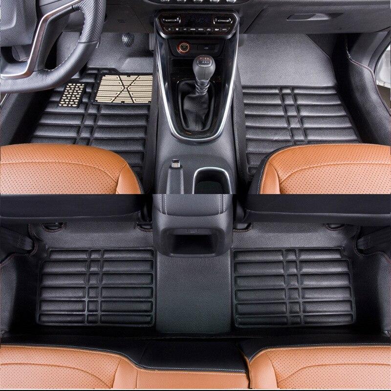 Myfmat custom foot leather car floor mats for Hyundai Matrix Veracruz Equus Genesis Rohens Veloster EV Elantra waterproof classy in Floor Mats from Automobiles Motorcycles