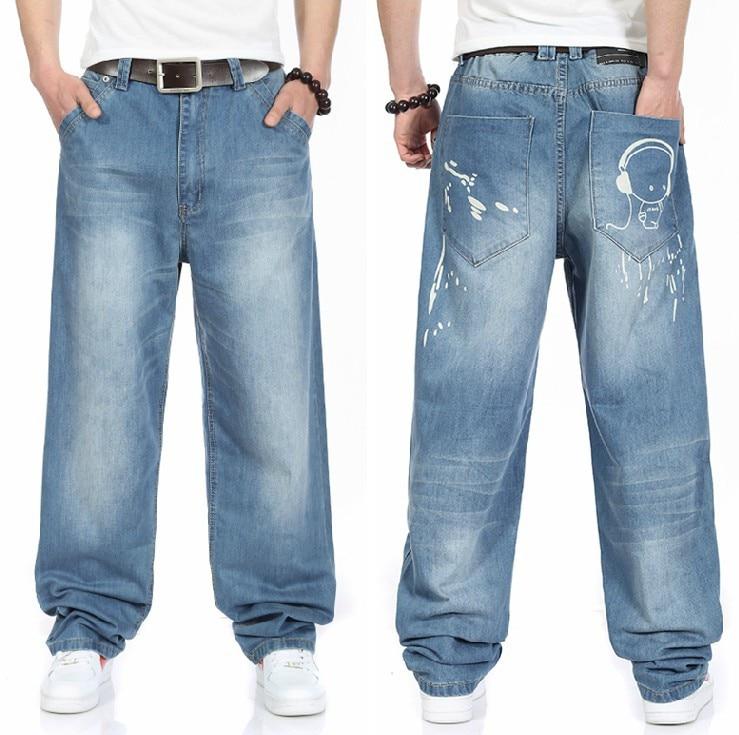 Plus Size 30 32 34 36 38 40 42 44 46 (waist 118cm) Hip Hop Jeans Oversize 2014 New Plus Size Jeans Wide Leg Jeans Free Shipping