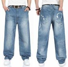 Плюс Размер 30 32 34 36 38 40 42 44 46 (талия 118 см) хип-Хоп джинсы негабаритных 2014 новые джинсы плюс размер джинсы широкую ногу бесплатная доставка