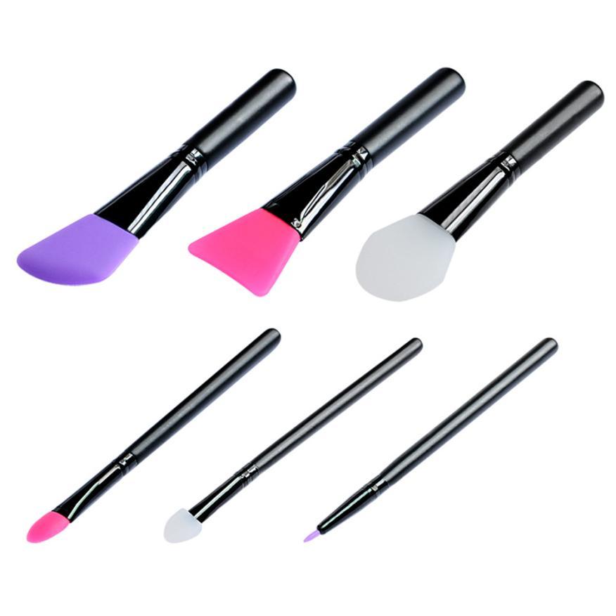 Wooden Handle Facial Face Mud Mask Mixing Brush Cosmetic Makeup Brush Kit