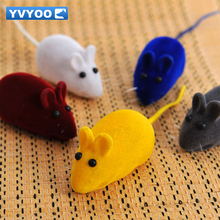 YVYOO Pet Toys Dogs Squeak Toys sound Cats Clean friction tooth Fake mice rubber toys 1 pcs YV03