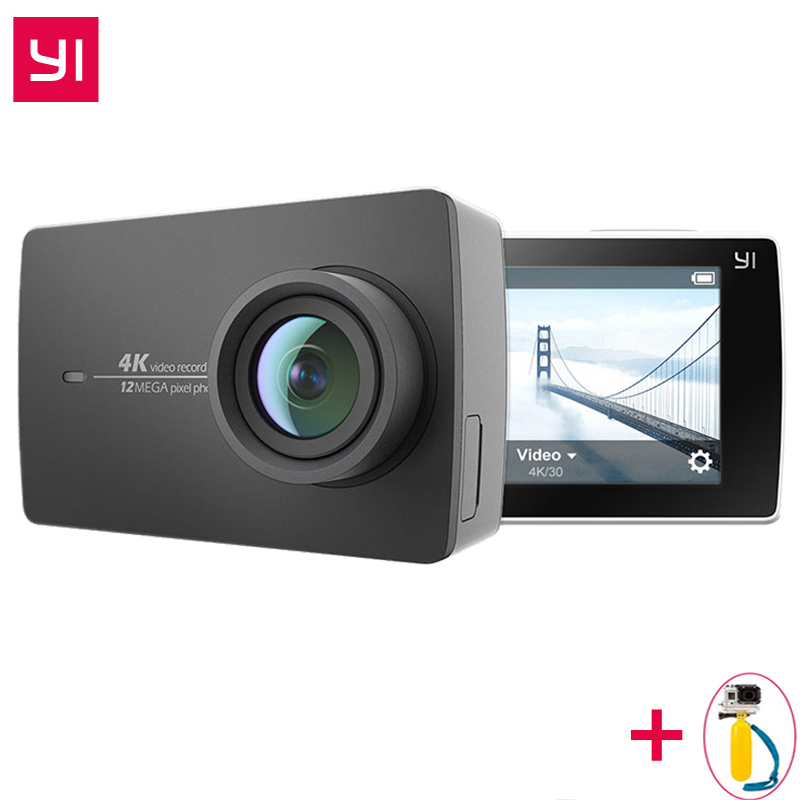 Caméra d'action internationale Xiaomi YI 4 K IMX377 12MP Ambarella A9SE bras 4 K/30 155 degrés EIS LDC 2.19