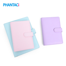 Macaron Leather Spiral Notebook A5 A6 Original Office Person Binder Weekly Planner